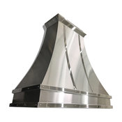 Gorgeous Mirrored Stainless Steel Range Hood, 48""