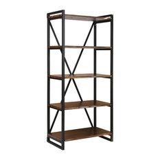 South Loop Bookcase in Dark Brown And Black
