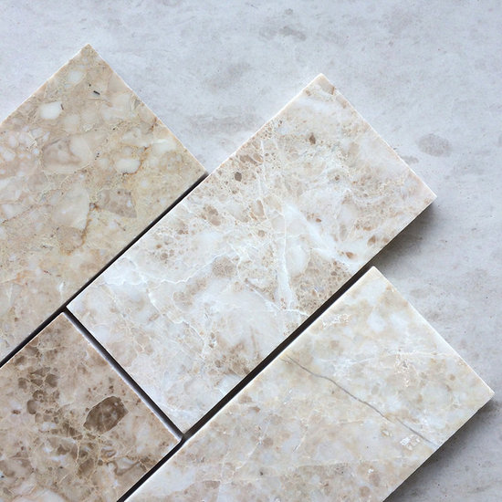 cappuccino 3 x 6 polished marble subway tile tile - Marble Subway Tile