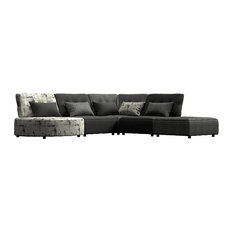 Madouri Modular 5-Piece Sectional, Black and Gray Solids and Geometric