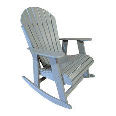 Awesome The Outdoor Chair   Poly Lumber Adirondack Rocking Chair, Dark Grey   Outdoor  Rocking Chairs