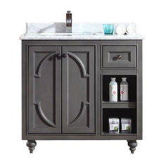 "Odyssey Collection 36"" Gray Vanity with Countertop"