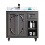 """Odyssey Collection 36"""" Vanity with Countertop, Gray"""