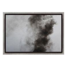 "Phoenix #3, 48""x32"", White Frame"