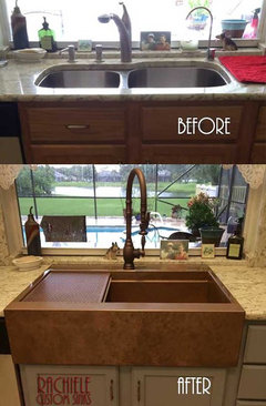 I Have A Patent On Design Where The Has Channel That Slips Over Faceframe Of Cabinet No Cutting Required Retrofit Farmhouse Sink