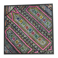 Mogul Interior - Sari Patchwork Banjara Multicolor Pillow Covers - Pillowcases And Shams