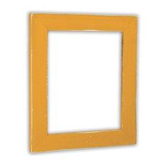 """Vintage Pumpkin Picture Frame, Solid Wood, 8.5""""x11"""""""