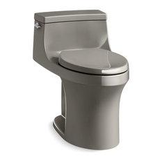 Kohler San Souci 1-Piece Elongated 1.28 GPF Toilet w/ Left-Hand Lever, Cashmere