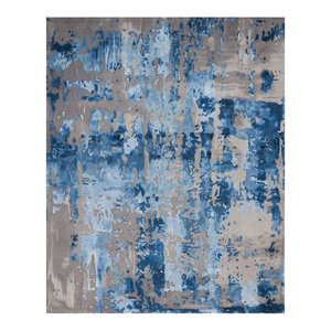 "Nourison Prismatic Blue/Gray Area Rug, 8'6""x11'6"""