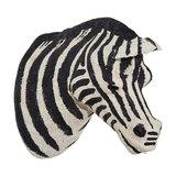 Wall Mounted Cotton Zebra Head
