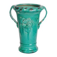 "Crestview Ceramic Vase With Handles 12.2""x9.84""x16.54""H CEVV0150"