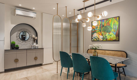 Mumbai Houzz: Grey, Glass & Gold are the Heroes in This City Nest