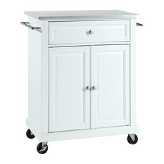 crosley stainless steel top portable kitchen cartisland white kitchen islands and. beautiful ideas. Home Design Ideas