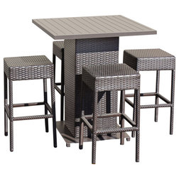 Contemporary Outdoor Pub And Bistro Sets by Burroughs Hardwoods Inc.