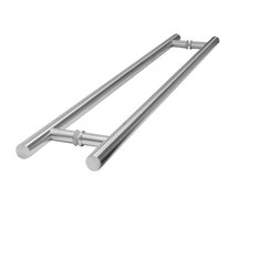 "Back-To-Back 30Mm Tubular Door Pull 36""x144"", Polished Stainless Steel"