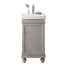 """Legion Furniture Dawson Single Sink Vanity, Gray, 18"""""""