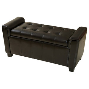 Superb Gdf Studio Rothwell Leather Storage Ottoman Bench Gamerscity Chair Design For Home Gamerscityorg