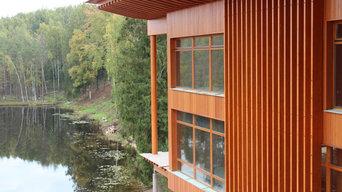 Engineered wood facade