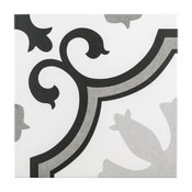 """SomerTile 9.75""""x9.75"""" Lacour Porcelain Floor and Wall Tile, Case of 16, Gray"""