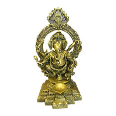 "Mogul Interior - Ganesh Statue Ganesha Hindu Elephant God of Success - Remover of Obstacles 11"" - Decorative Objects And Figurines"