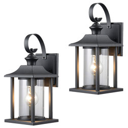 Traditional Outdoor Wall Lights And Sconces by Door Corner