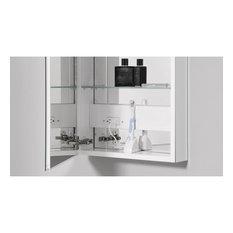 "PL Series Cabinet 19-1/4""x30""x4"" Flat Top Polished Edge Left Hinge"