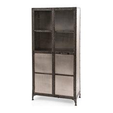 ... Loft Wide Metal Shoe Locker Style 2 Door Cabinet - Storage Cabinets