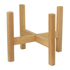 Wood Plant Stand With Square Legs 12'' Natural Color