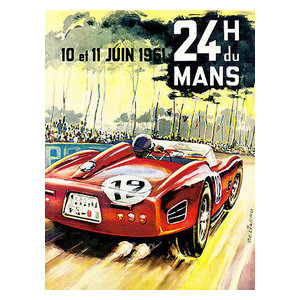 Promotional Advertising Poster 1963 24 Hours of Le Mans Race