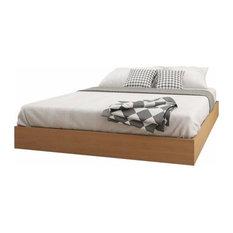 Nordik 346005 Queen Size Platform Bed, Natural Maple