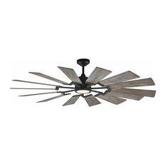 14 Blade Windmill Ceiling Fan, Aged Pewter, 62