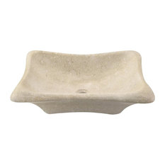 Galaga Beige Marble Sink, Sink Only, No Additional Accessories