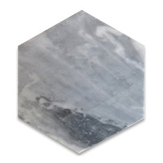"6""x6"" Bardiglio Gray Hexagon Tile Honed"