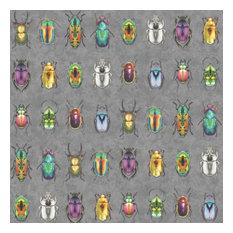 Beetle Jewels Wallpaper, Multicoloured