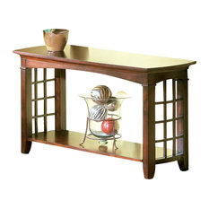 Standard Furniture Glasgow Sofa Table Dark Choco Cherry Console Tables