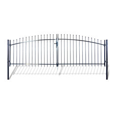 Double Door Fence Gate With Spear Top 13'x5'
