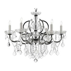 Baroque Iron and Crystal Chandelier Lighting Dressed With Empress Crystal