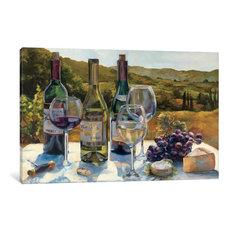 """""""A Wine Tasting Gallery"""" by Marilyn Hageman, 26x18x0.75"""""""