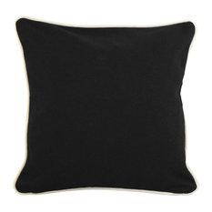 "Pillowcase, Black, 16""x16"""