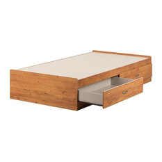 South Shore Logik 2 Drawer Mates Bed in Country Pine