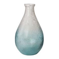 Lazy Susan Ombre Glacier Teardrop Vase, Blue