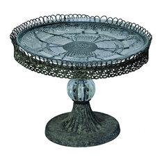 Filigree 1-Tier Victorian Round Cake Stand