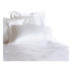 GINGERLILY - Eva White Silk, Euro Super King, Duvet Cover - Duvet Covers & Sets