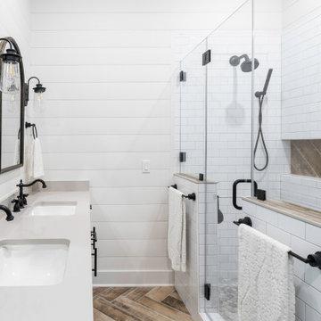 Delafield Modern Farmhouse Master Bath