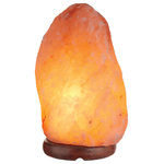 "Novogratz x Globe Electric - Novogratz x Globe 9"" Pink Himalayan Salt Lamp with Wood Base, 4-7lbs - You don't know what you're missing if you've never owned a Himalayan salt lamp. It's like having an open window - a softly glowing natural source of fresh, clean air - on your desk, in your living room, next to the bed, or anywhere you choose to put it. Hand-selected from the Himalayan Mountains, each Globe Electric Himalayan Salt Lamp is made from hand-etched strong blocks of antiquated precious stone salts and brought directly to you. Unique in pattern, color, shape and weight, it is a great resource for purifying air. This lovely little gem is known to help improve sleep, decrease stress, increase energy, improve breathing, reduce allergy symptoms and much more. The wood base is both elegant and durable and built to last. In order to get the best results, it should be placed in an area where you invest a considerable amount of time. The dimmable rotary on/off switch allows you to control the amount of light you need with one simple turn and the 6-ft cord with polarized plug lets you place your lamp anywhere you want with ease. Have fun feeling great! Decorate with the Novogratz and Globe Electric - lighting made easy."