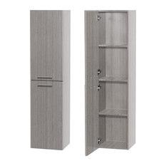 wyndham collection bailey bathroom 2 door wall mounted storage cabinet gray oak