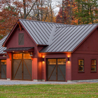 This is an example of a large country detached three-car garage in Burlington.