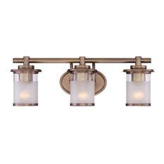 Essence 3-Light Bath Bar, Old Satin Brass