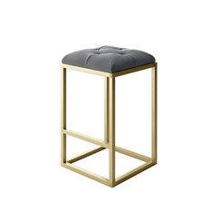 designer modern home lewis modern stool with gold metal frame and gray velvet medium