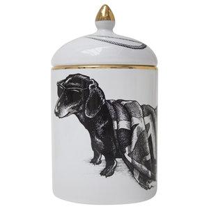 Hot Dog Union Jack Ceramic Pot